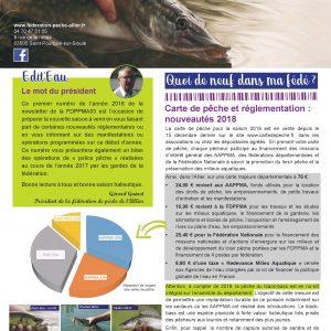 Newsletter n°3 Fédération de Pêche de l'Allier – février 2018