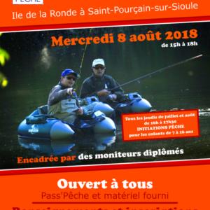 Initiations pêche à Saint Pourçain sur Sioule pendant la période estivale