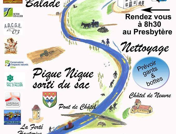 Journée nettoyage de l'Allier à Monétay sur Allier le dimanche 17 mars 2019