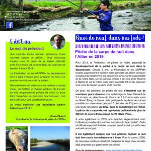 Newsletter n°5 FDPPMA03 – Février 2019
