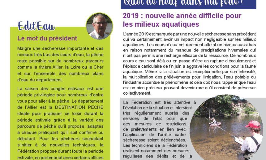 Newsletter n°6 FDPPMA03 – Juillet 2019