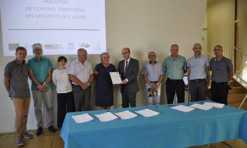 Signature du Contrat Territorial Milieux Aquatiques des affluents de l'Allier