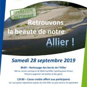 Journée de nettoyage de l'Allier