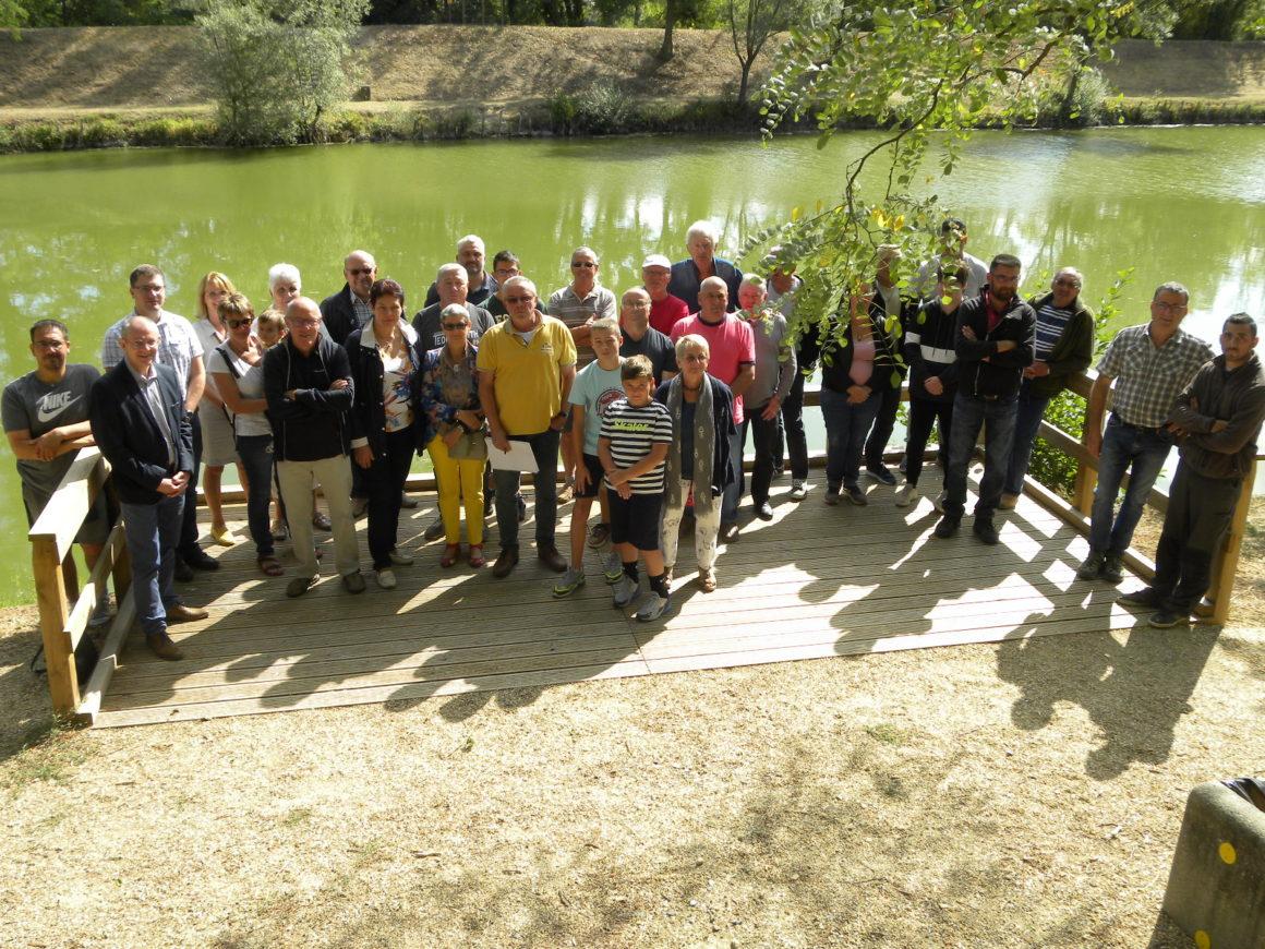 Inauguration du poste de pêche partagé au plan d'eau des Percières à Dompierre sur Besbre
