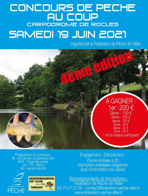 4ème édition du concours de pêche au coup du carpodrome de Rocles