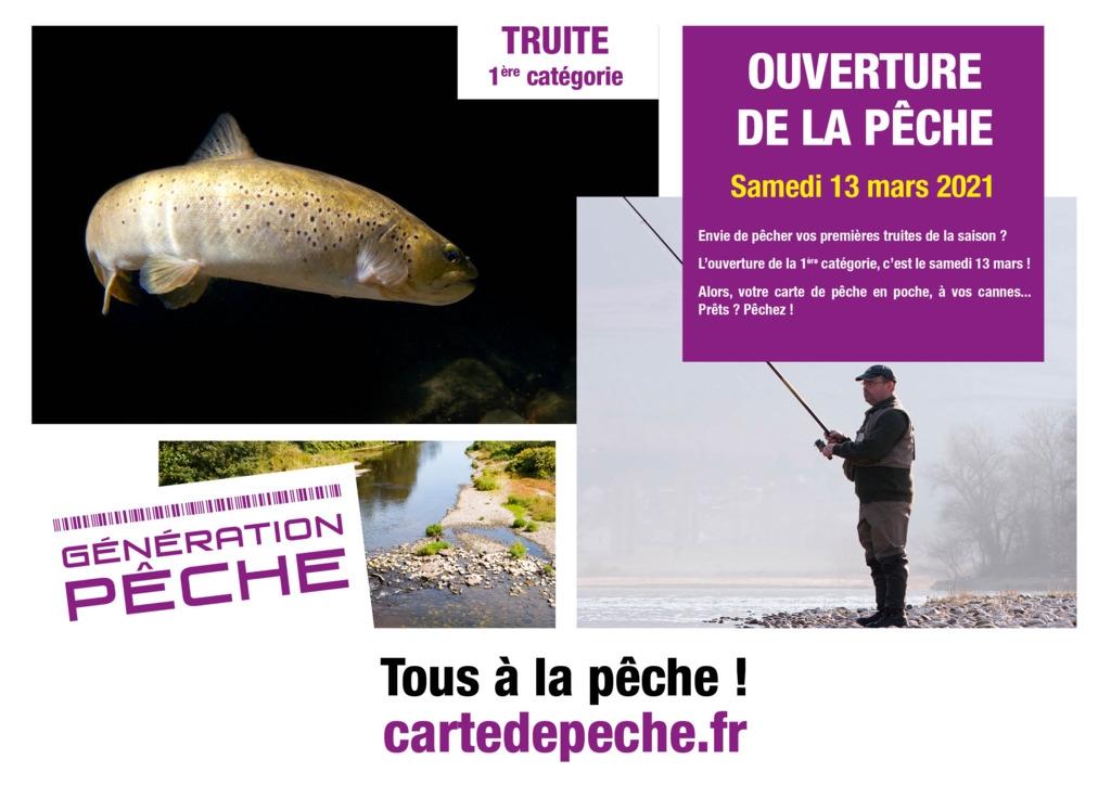 Samedi 13 mars 2021 :  C'est l'ouverture de la pêche de la truite !