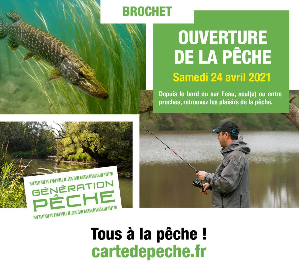 L'ouverture de la pêche du brochet en 2ème catégorie, c'est le samedi 24 avril