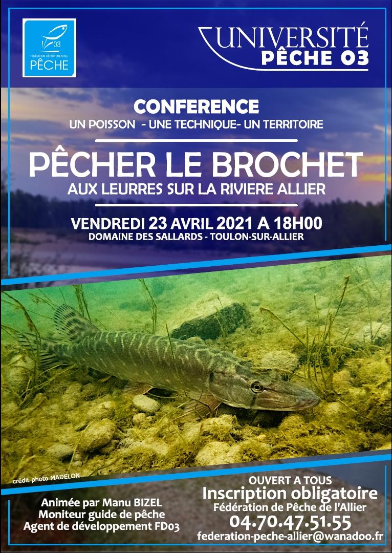 Nouveauté 2021 – Université Pêche 03 – Conférences Pêche