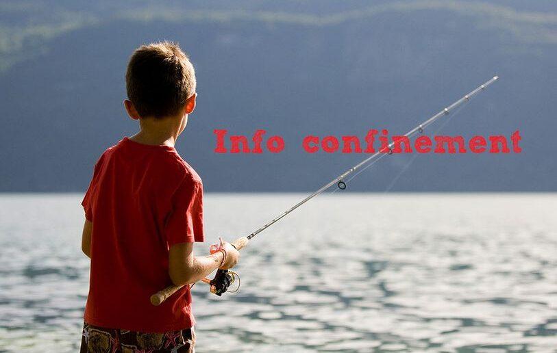 Dérogation de déplacement de 30km accordée à la pêche de loisir