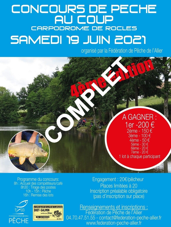 4ème édition du concours de pêche au coup du carpodrome de Rocles [COMPLET]