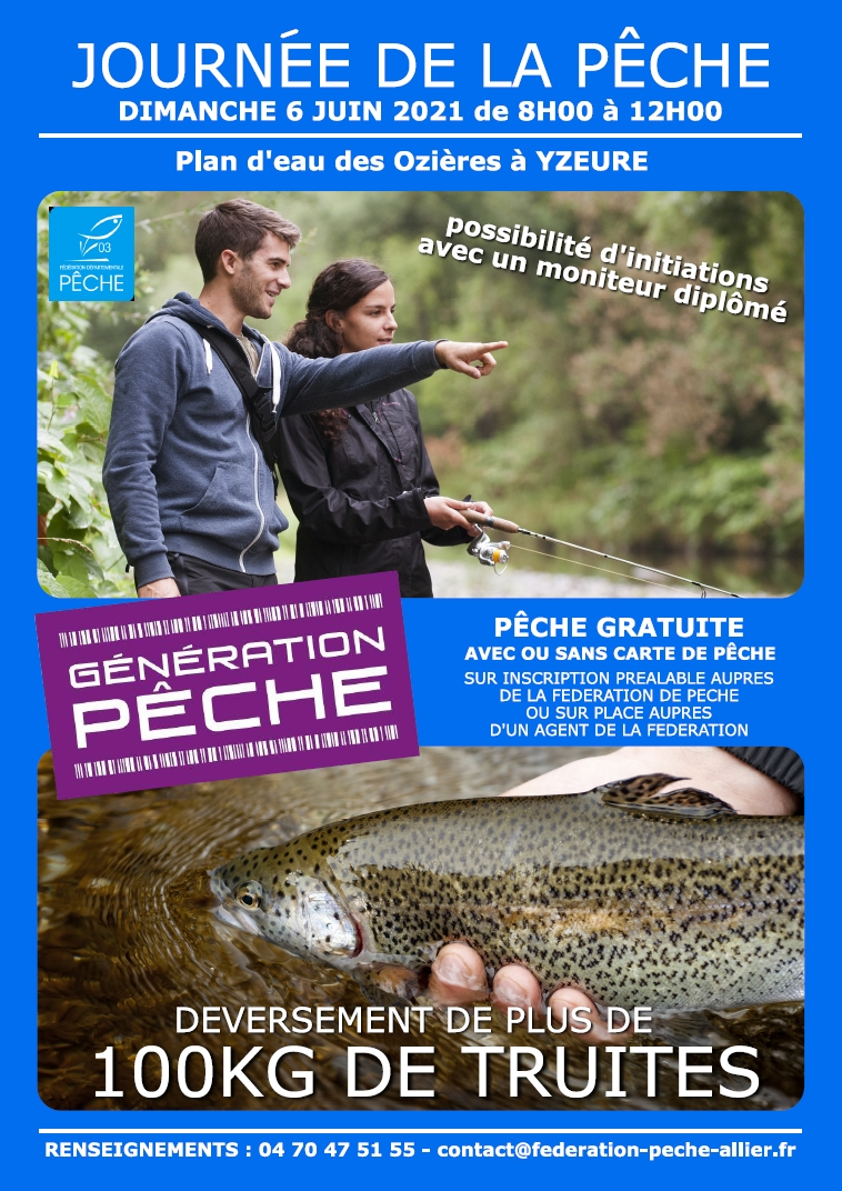 Journée de la pêche du dimanche 6 juin 2021 au plan d'eau des Ozières à Yzeure