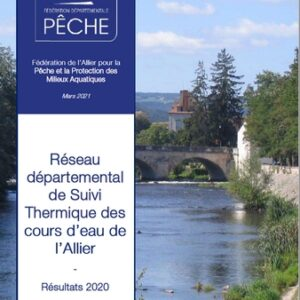 Suivi de la température des cours d'eau du département – Bilan 2020